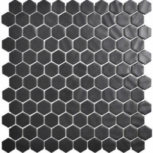 MALLA HEX NATUREGLASS BLACK 2892 31 X 31