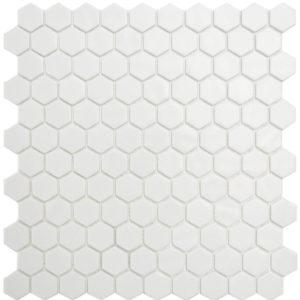 NATURE HEX GLASS WHITE 2002893 30 X 30